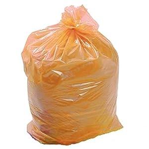 YONGXINXUZE 50 Bolsas Grandes de Basura recicladas y recicladas Bolsas de Basura Bolsa de Basura Naranja Caddy Liner 18 x 29 x 39 (140 g)