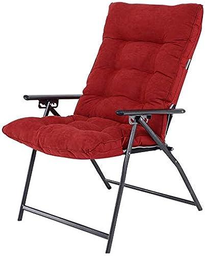 XIAOYAN Klappstuhl für Home Office College Schlafsaal 5 Position Verstellbare Rückenlehne 6 Farben 67  55  110 cm (Farbe   rot)