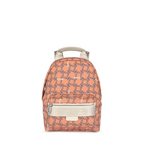 TOUS Logogram - Zaino piccolo arancione-beige