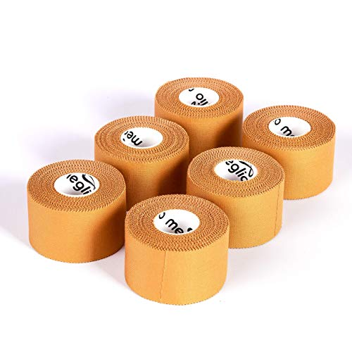 Meglio Zinc Tape Oxide Tape 6 Rolls – Perfect for Sports Strapping Tape for Support Injury...