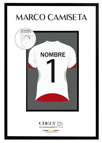 Chely Intermarket | 2A-2A | Marco Camiseta 50x70cm (Negro) | MOD-3019 | Marco de Madera para Decoración de camisetas en salón de casa, Habitaciones, oficinas de Trabajo.(3019-50x70-2,60)