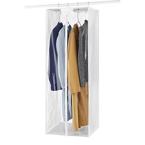 Whitmor Crystal Clear Jumbo Garment Bag, White
