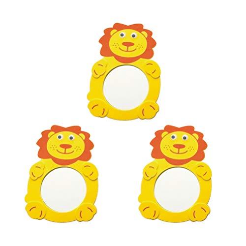 Toddmomy 3 Unids Bebé Espejo Juguete de Baño Dibujos Animados Animal en Forma de Espejo Baño Juguete Bebé Piso Actividad Espejo Niños Espejo Juguete para Juguete Educativo Estilo Aleatorio