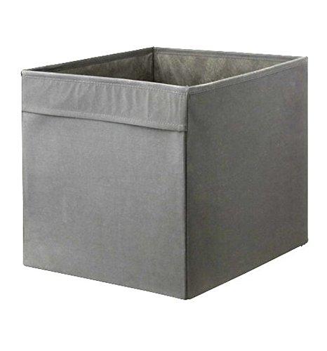Ikea Dröna Fach, Textil, grau, 4er-Packung