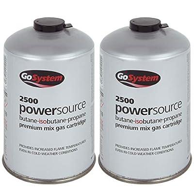 Go System 2 x Schraubkartusche Ventil Gas Kartusche Kocher Iso Butan/Propan 445 g
