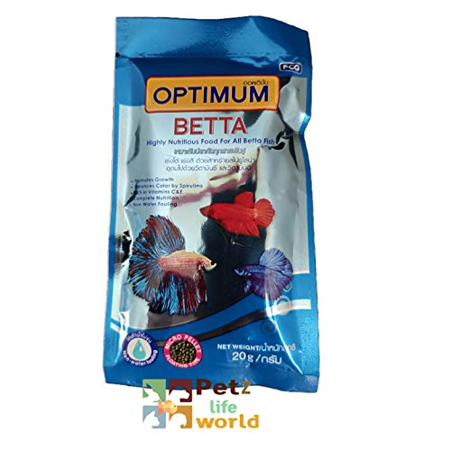 Petzlifeworld Optimum Betta Fish Food, 20g | Highly Nutritious Food for All Betta Fish