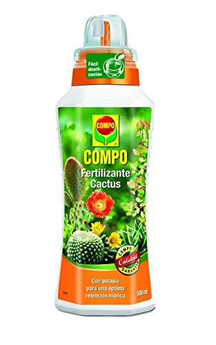 Compo Cactus, Plantas crasas y suculentas, Fertilizante líquido con Extra de potasio, 500 ml, 23x7x6.3 cm, 2140902011