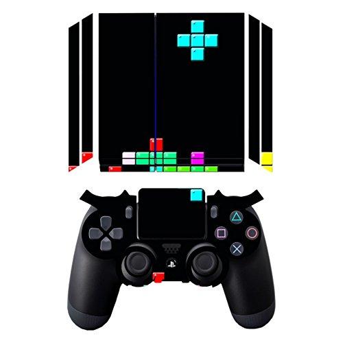 Disagu Design Skin for Sony PS4 liegend + Controller - Motif Tetris No. 1