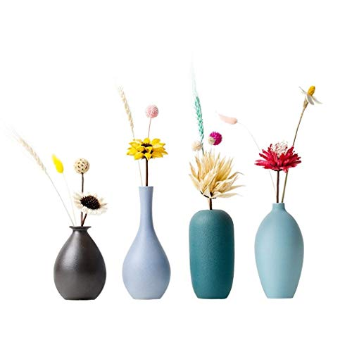 Flower Vases for Decor Nordic Style Small Vase Ceramic Small Fresh Vase Living Room TV Cabinet Porch Creative Ornaments Ornaments Family and Wedding