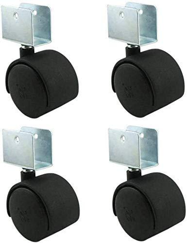 TCWDX Silla giratoria de 4 Piezas Silla de Oficina Silla de computadora Reemplazo de Rueda Universal Plana, Mesa de gabinete Soporte de Flores Rueda de Nylon para Muebles, Ruedas giratorias, Suave