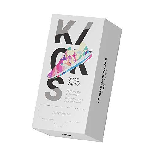 Kicks Shoe Wipes | Sneaker Cleaning Wipes | 36 Stück | Schuh Reinigungstücher einzeln verpackt in der Spenderbox