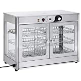 vidaXL Scaldavivande Elettrico Gastronorm Riscaldatore per Cibi Vetrina Riscaldante per Alimenti Prodotti da Cucina 1200 W in Acciaio Inox