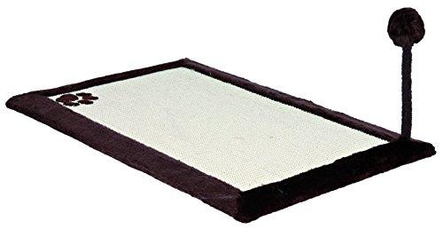 Trixie 4323 Kratzmatte mit Plüschrand, 70 × 45 cm, natur/braun