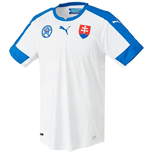 PUMA Herren Trikot Slovakia Replica Shirt, White/Royal/Home, L