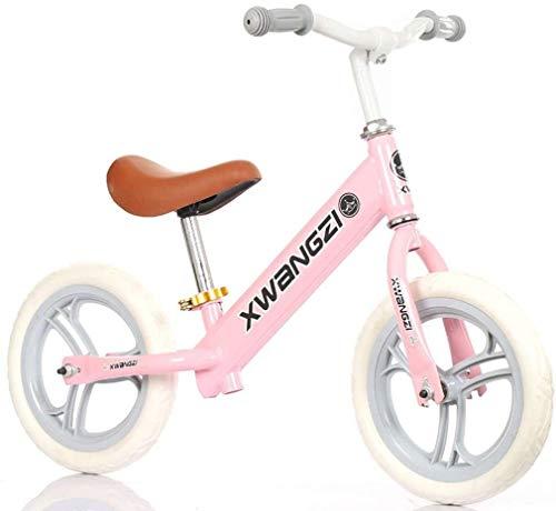 Bicicleta de Equilibrio Caminar Equilibrio de bicicletas for niños y los niños de 2 a 5 Años de Edad No Pedal Formación de bicicletas con asiento ajustable Construye Centrándose en Equilibrio, Jardín