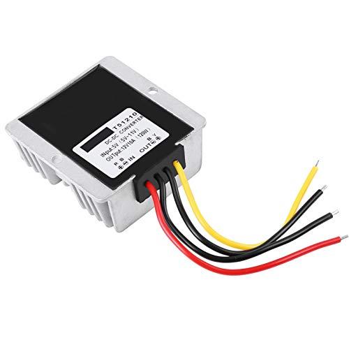 Módulo de refuerzo de CC a CC, convertidor de refuerzo ajustable, 120 W 5 V - 12 V a prueba de agua para mini módulo de radio de coche Transformador de voltaje síncrono