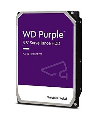 WD Purple 2TB Surveillance 3.5 Inch SATA 6 Gb/s Hard Disk Drive with Allframe 4K Technology - 180TB/yr, 64MB Cache, 5400rpm - WD20PURZ