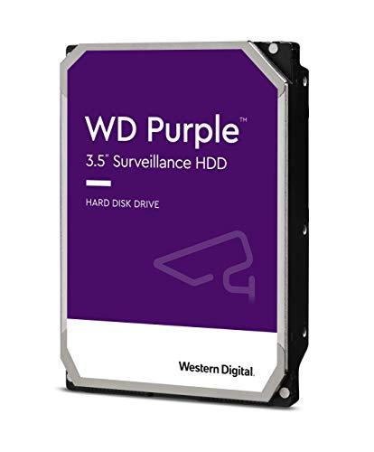 Western Digital WD Purple 4TB para videovigilancia - 3.5 pulgadas SATA 6 Gb s disco duro con tecnología AllFrame 4K - 180TB yr, 64MB Cache, 5400rpm - WD40PURZ