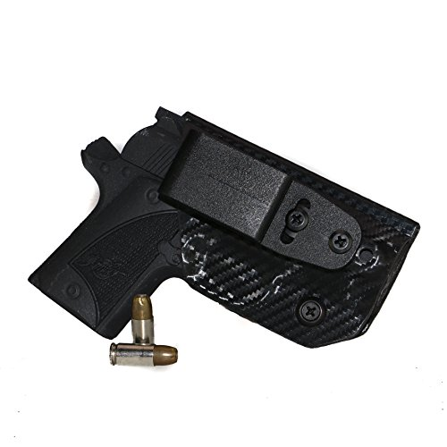 FoxX Holsters Deluxe Trapp Kydex IWB Holster - Kimber Micro 9 Our Smallest Inside Waistband Holster Adjustable Cant & Retention, Conceal Carry (Carbon Fiber Black)