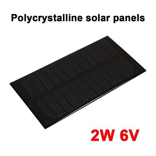 Anyutai Solar Panel 6V 2W tragbare Solarzelle für Solar-Ladegerät, Power Home Outdoor DIY-Projekte