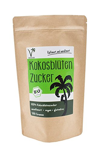 Bio Kokosblütenzucker - alternative Süße von Vollzucker | aus fairem Handel (500 GR)