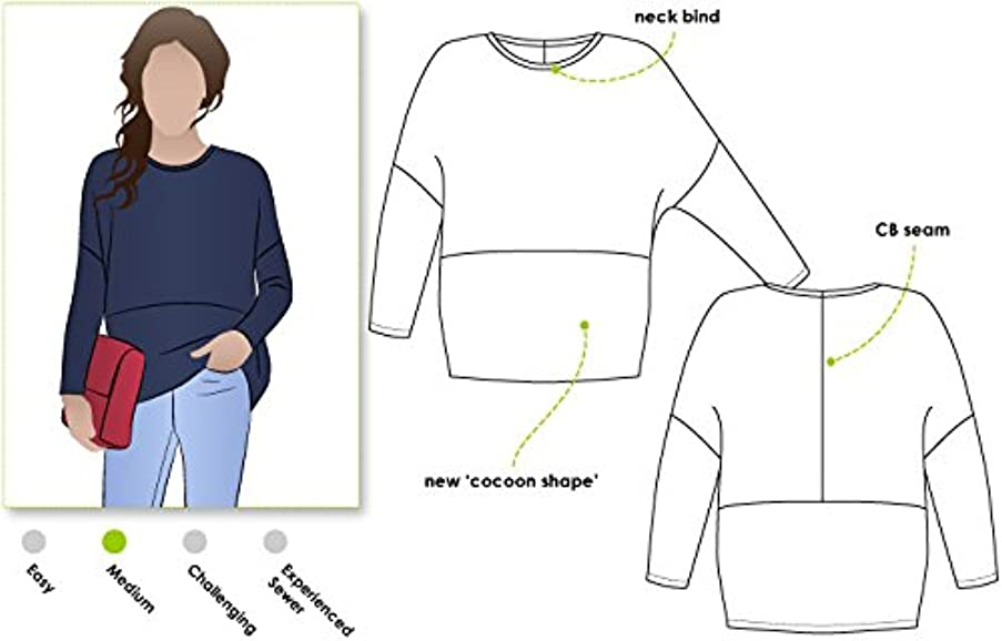 Style Arc Sewing Pattern - Sunny Knit Top (Sizes 18-30) - Click for Other Sizes Available