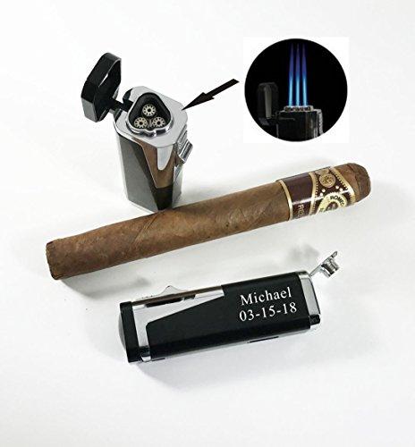 Groomsman,Groomsmen, Best man gift-Personalized,engraved Cigar torch lighter, Cigar cutter, Butane lighter-Anniversary gift