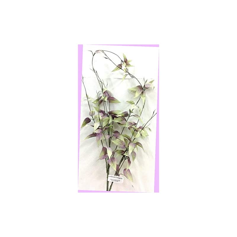 "silk flower arrangements artificial smilax weeping spray stem lavender, green 40"" silk artificial flowers bouquet realistic flower arrangements craft art decor plant for party home wedding decoration"