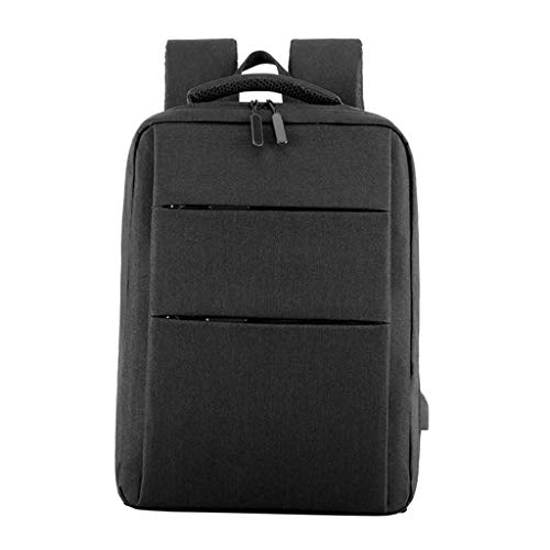 LOVIVER Travel 15.6' Laptop Backpack Business Computer Rucksack School Bag for Men Women - Black