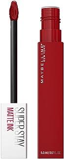 رژ لب مایع مات Maybelline SuperStay ، آرایش لب مایع مات با ماندگاری طولانی ، رنگ بسیار رنگی ، ماده برانگیزاننده ، 0.17 fl. اونس