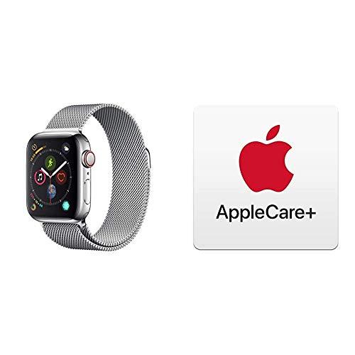 AppleWatch Series4 (GPS + Cellular) cassa 40mm in acciaio inossidabile eloop in maglia milanese con AppleCare+