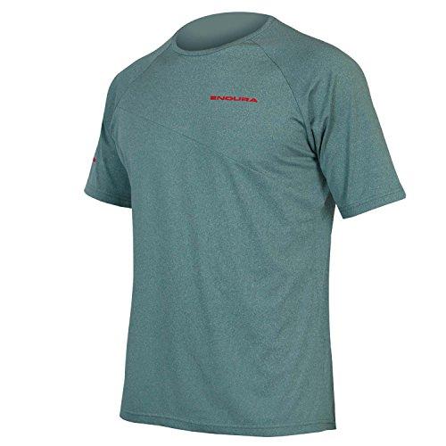 Endura SingleTrack Lite T-shirt de cyclisme à manches courtes pour homme, Homme, pétrole, Small