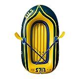 FUJGYLGL Seguridad Kayak Bote Inflable, Hydro-Force Treck Balsa Inflable Balsa excursión en Barco Inflable del Barco fijada con remos y Bomba, 2 Persona