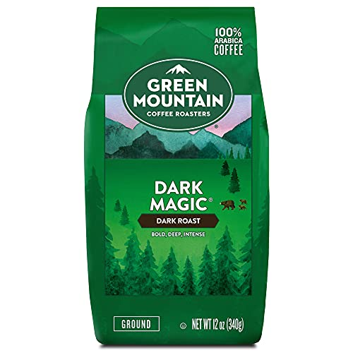 Green Mountain Coffee Roasters Dark Magic, Ground Coffee, Dark Roast, Bagged 12 oz