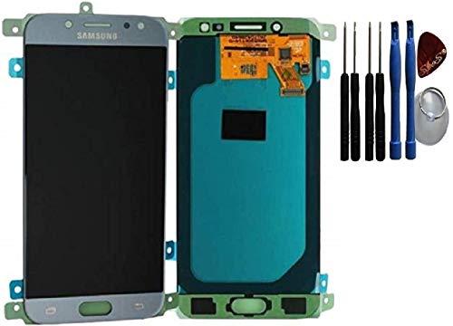 Pantalla LCD original para Samsung Galaxy J5 (2017) J530F, pantalla táctil, color azul y plateado.