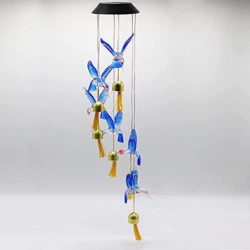 Alfie LED Solar Hummingbird Wind...