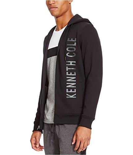 Kenneth Cole REACTION Men's Logo Hoodie, Black, X-Large