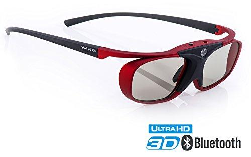 Hi-SHOCK BT Pro Scarlet Heaven aktive 3D Brille für 3D TV von Sony, Samsung, Panasonic | komp. mit SSG-3570CR, TDG-BT500A, TY-ER3D5ME 120 Hz - akku