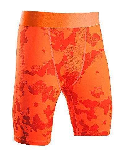 SaiDeng Hombres Deportivos Apretado Pantalones Cortos Compresión Secado Rápido Leggings