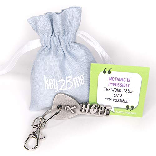 key2Bme Hope Key - Ribbon Keychain & Inspirational Quote - The Unique Small Cancer Patient get Well...