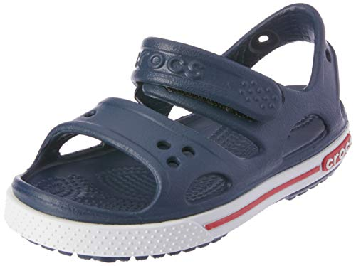 Crocs Kids' Crocband II Sandal | Water Slip On Shoes for Boys and Girls, Navy/White, 6 US Unisex Toddler
