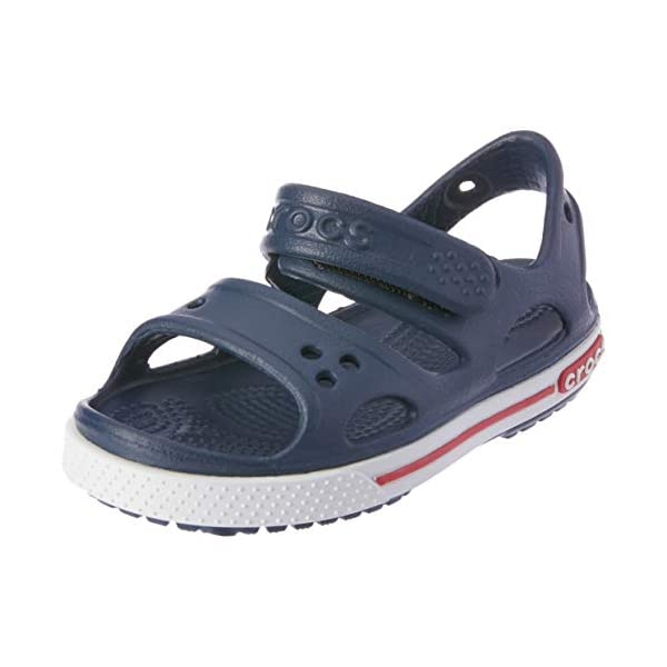 Crocs Kids' Crocband II Sandal | Water Shoes | Slip On Shoes for Boys and Girls, Navy/White, J2 US Little Kid
