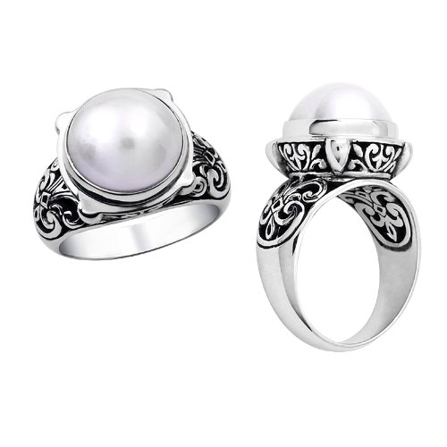 Sterling Silver Ring with Mabe Pearl AR-1024-PE-6