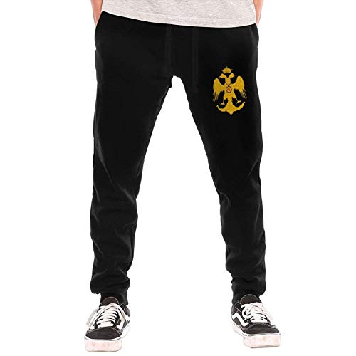 Axige888 Bizantina Bandera Imperial Hombre Suelto Pantalones Largos Pantalones Deportivos Invierno Al Aire Libre