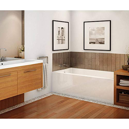 MAAX 105815-R-000-001 Rubix Acrylic Right-Hand Bathtub, 59.75-in L x 30-in W x 18.375-in H, White