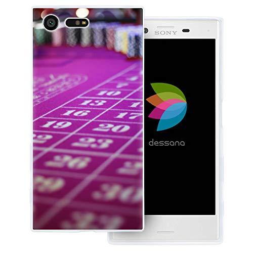 dessana geluksspel Casino transparante beschermhoes mobiele telefoon case cover tas voor Sony, Sony Xperia X Compact, Roulette tafel