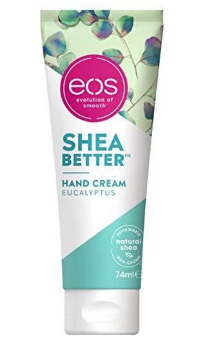 eos Shea Better Hand Cream Eucalyptus, feuchtigkeitsspendende Handpflege, in handlicher Tube, mit Eucalyptus & Minze, für weiche Hände, mit nachhaltiger Sheabutter & Sheaöl
