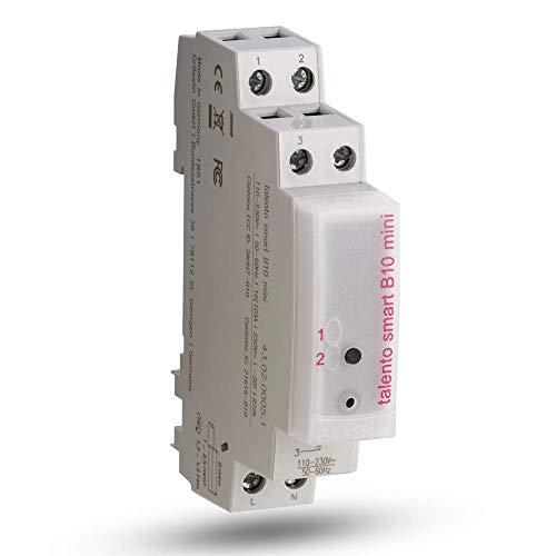 Grässlin Talento Smart B10 43.02.0005.1 Digitale tijdschakelaar met draadloze Bluetooth 4.0 verbinding - 1 kanaal - 1 module - DIN-railmontage - mobiele programmering via app AC 130-240V