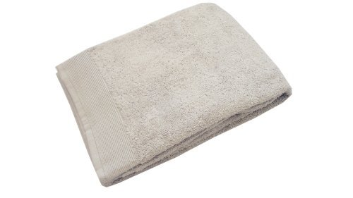 Blanc des Vosges E7S1G-75 Cotton Bath Towel 110 x 55 cm Pearl-Coloured by
