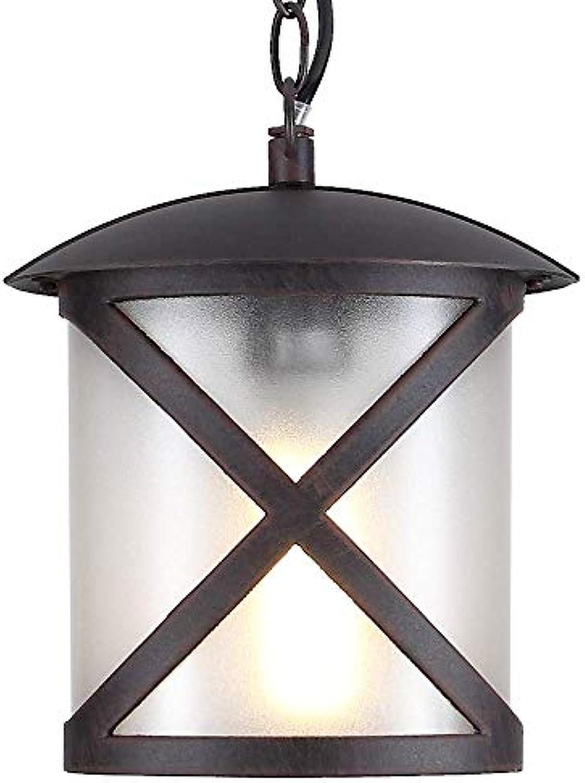 Auenleuchte Pendelleuchte IP23  Leuchte E27 230V  Aussenlampe max.100W  Lampe rostfarben Aluminium  Hngelampe Auen